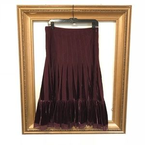 Free People purple crochet velvet swing skirt, 8